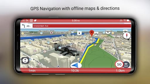Free-GPS, Maps, Navigation, Directions and Traffic 1.9 screenshots 3