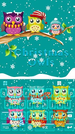 Christmas Owls Keyboard Theme
