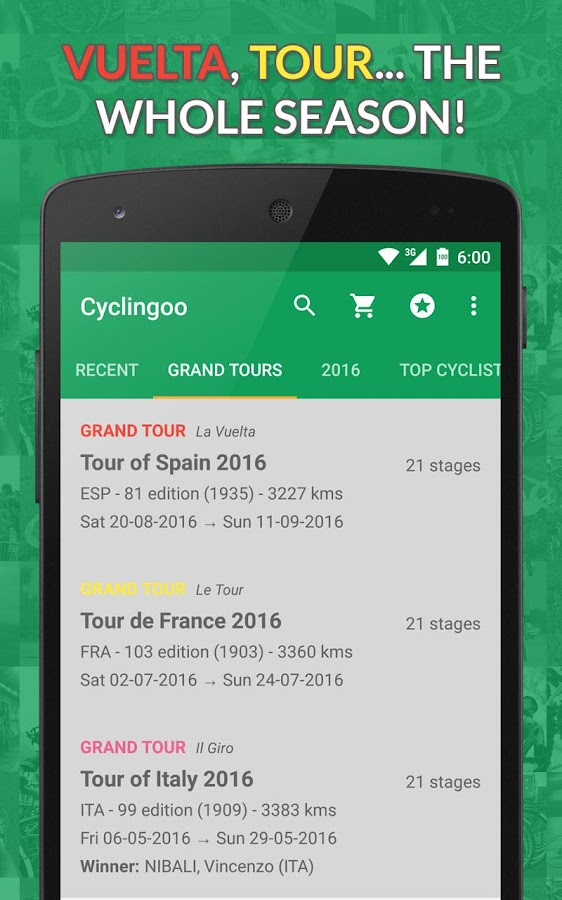 Cyclingoo - Cycling results 2018- screenshot
