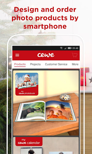 cewe photoworld - photo books and calendars Android App Screenshot