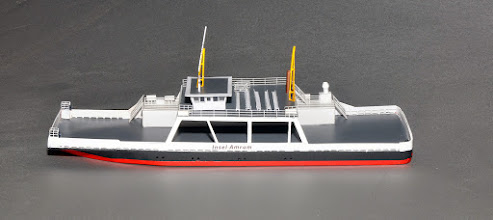 Photo: Amrum Island Car Ferry in Z Scale