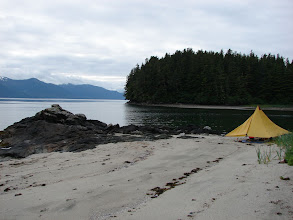 Photo: My campsite north of Point Vandeput near Thomas Bay.