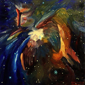 orion nebula by Paul Robin Andrews - Painting All Painting ( nebula, hubble, orion, space, oil painting )