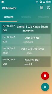 BETculator - Best Cricket Bet Calculator - náhled