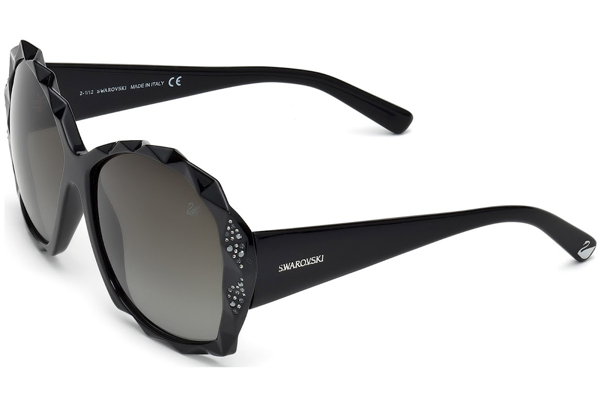 b8294aa00ca1 Sunglasses Swarovski SK0040 C60 01B (shiny black   gradient smoke)