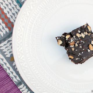 Vegan and Gluten Free Peanut Crunch Brownies.