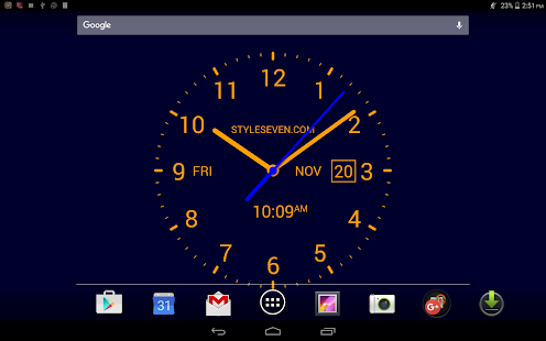 Analog Clock LiveWallpaper7PRO Screenshot
