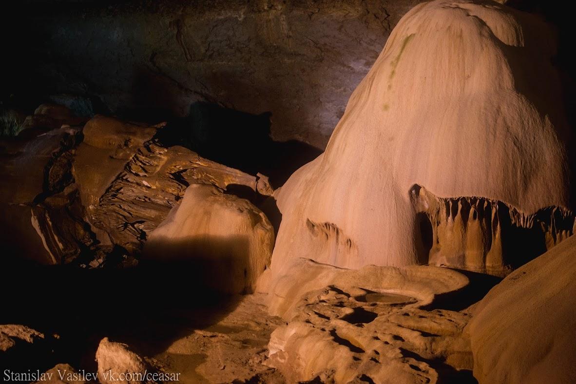 """""""Мраморная"""" пещера"""
