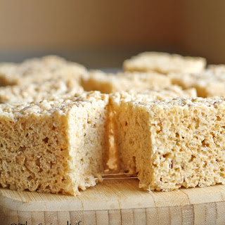 Vanilla Salted Browned Butter Rice Krispy Treats Recipe