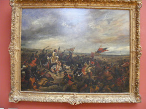 Photo: This battle scene (name and artist forgotten) is quite reminiscent of American Civil War art, a central theme of the family's art expert's thesis.