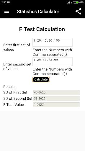 statistics calculator screenshot 3