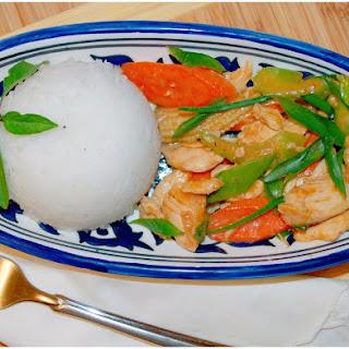 Chicken & Veggie Thai-Style Stirfry.