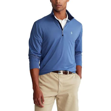 Ralph Lauren Golf 1/2 Zip Golftröja Bastille Blue