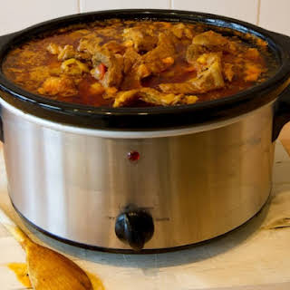 Slow Cooker Spicy Beef Curry Stew.