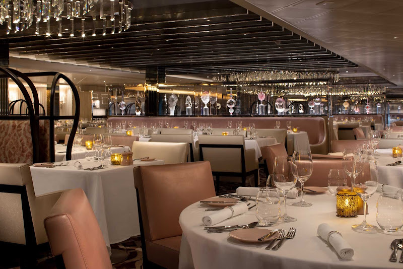 You'll find contemporary French cuisine at Normandie. Dinners at the 346-seat restaurant come with your Celebrity Edge class sailing.