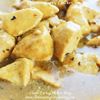 Clean Eating Dinner – Easy Healthy Coconut Curry Chicken.