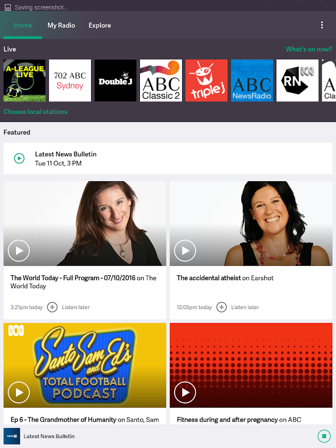 ABC Radio- screenshot