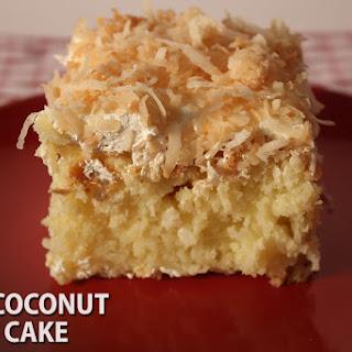 Easy Coconut Sheet Cake.