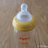母乳実感の哺乳瓶にビーンスタークのニプルをとりつけ