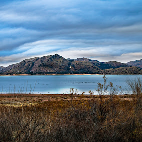 Quartz on the lake by Kyle Blakeburn - Landscapes Mountains & Hills ( mountain, clouds, water, lake, landscape )