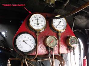 Photo: Les différents manomètres de conduite