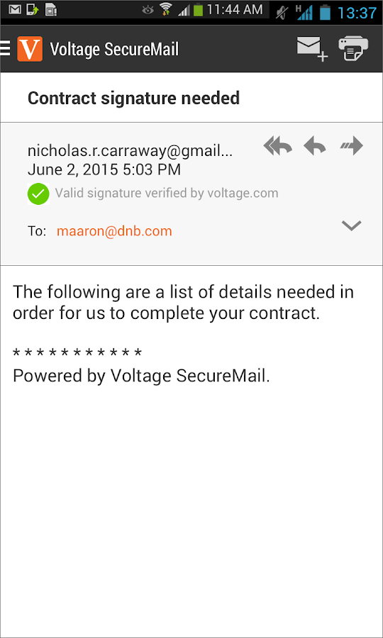 Voltage SecureMail - Android Apps on Google Play