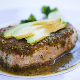 Seared Tuna with Avocado.