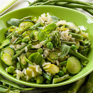 Risotto with Green Veggies Recipe