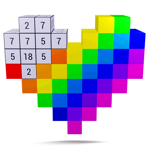 Color by Number 3D : Voxel Coloring, Unicorn 3D Icon