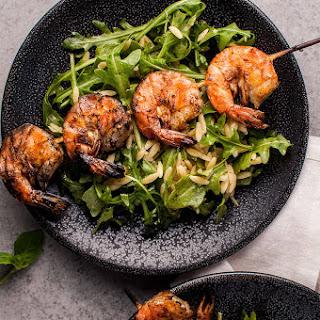 Grilled Shrimp, Orzo, and Arugula Salad