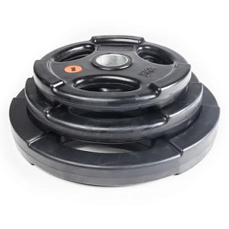 Viktskivor med handtag, gummerade svarta (50 mm Ø)