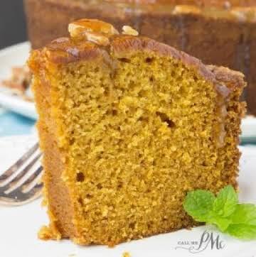 Praline Glazed Pumpkin Pound Cake