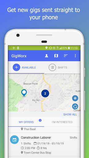 Screenshot for GigWorx in United States Play Store