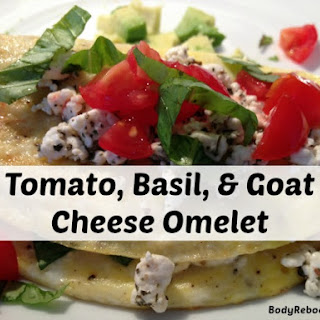 Tomato Basil and Goat Cheese Omelet