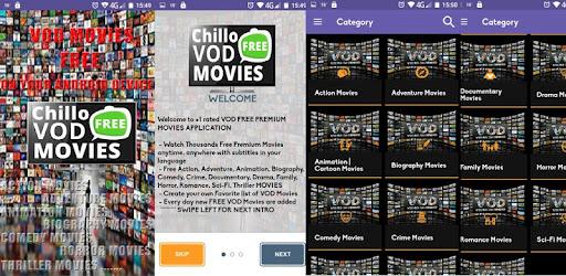 Chillo VOD FREE MOVIES - App su Google Play