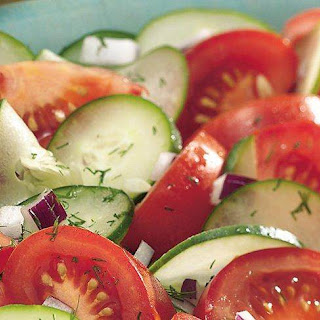 Cucumber Tomato Onion Salad With Dill Recipes
