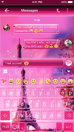 玩免費遊戲APP|下載2016 Pink Paris Keyboard Theme app不用錢|硬是要APP