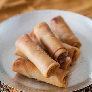 Chinese Spring Rolls with Chicken.