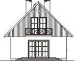 Domek Mały 004 BK V3 - Elewacja tylna