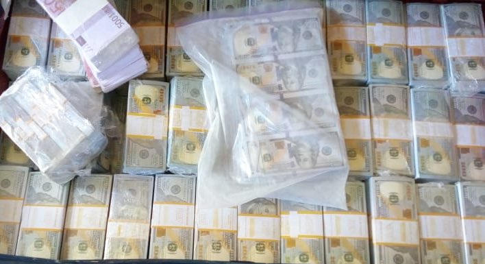 Fake currency recovered by police in a past raid