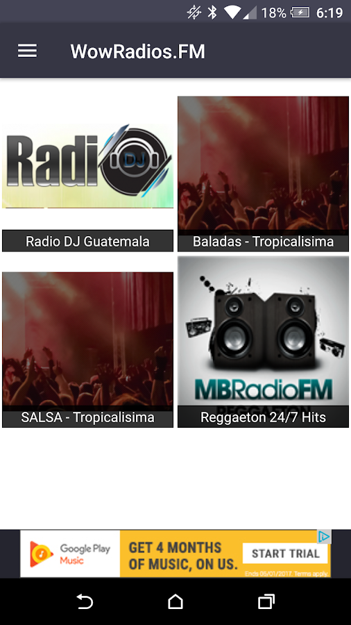 WowMusic.FM | Musica Latina- screenshot
