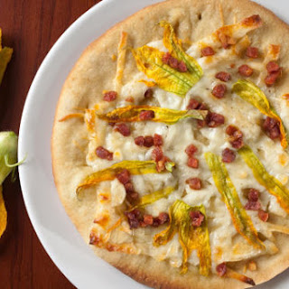 Zucchini Blossom and Pancetta Pizza