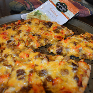 Meat Lovers Korma Pizza.