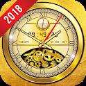 Luxury Gold Clock Live Wallpaper HD: Golden Theme icon