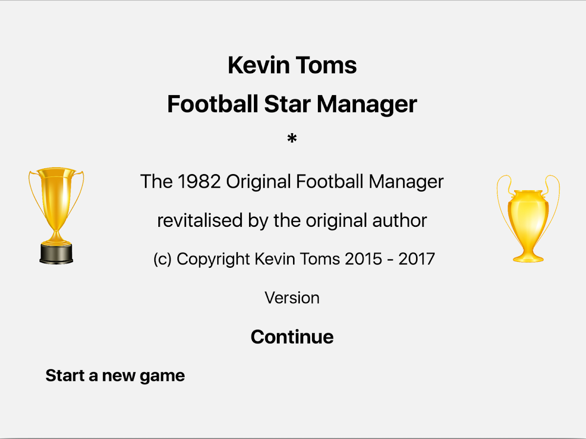 Kevin Toms Football * Manager- screenshot