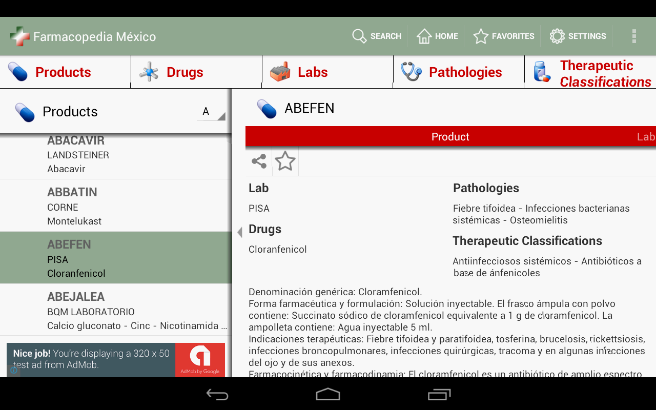 Farmacopedia Mexico- screenshot