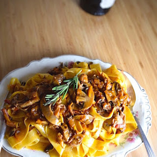 Wild Mushroom Ragú with Pappardelle