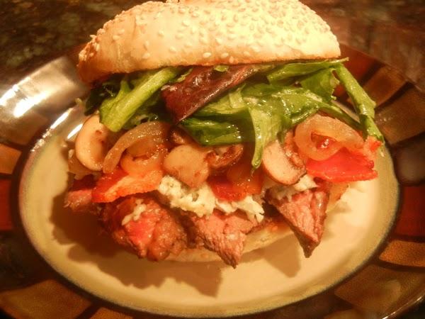 Steakhouse Fully Loaded Ribeye Sandwich Recipe