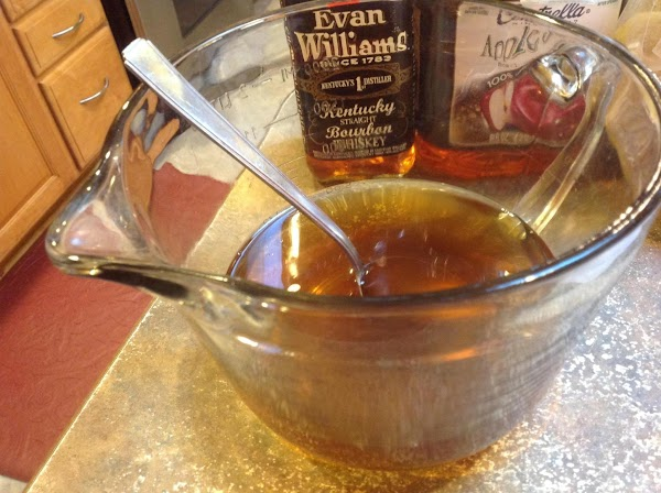 Add in the Apple Bourbon marinade