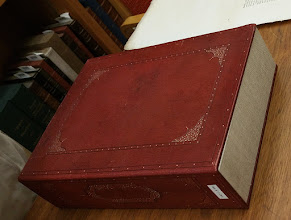 Photo: the box that holds the manuscript
